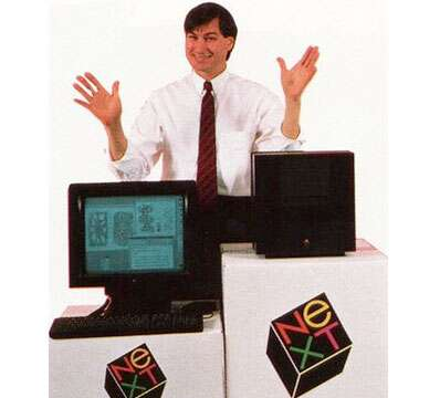 Steve Jobs at NeXT Computer Launch Promotional Photo